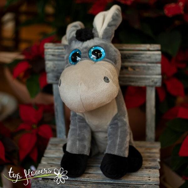 Stuffed donkey   28 cm.  