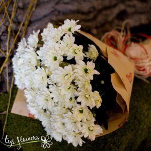 Bouquet of Chrysanthemums | White