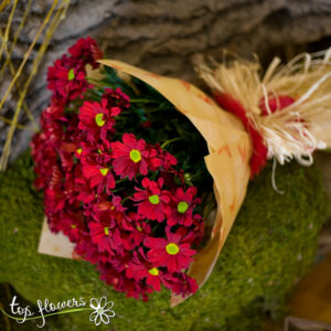 Bouquet of Chrysanthemums | Red
