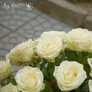 Кошница 51 бели / екрю рози