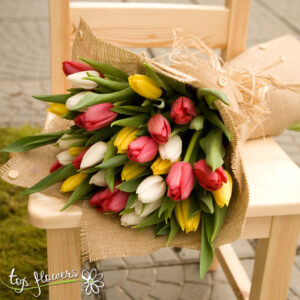 Bouquet of 31 Tulips | Multicolored
