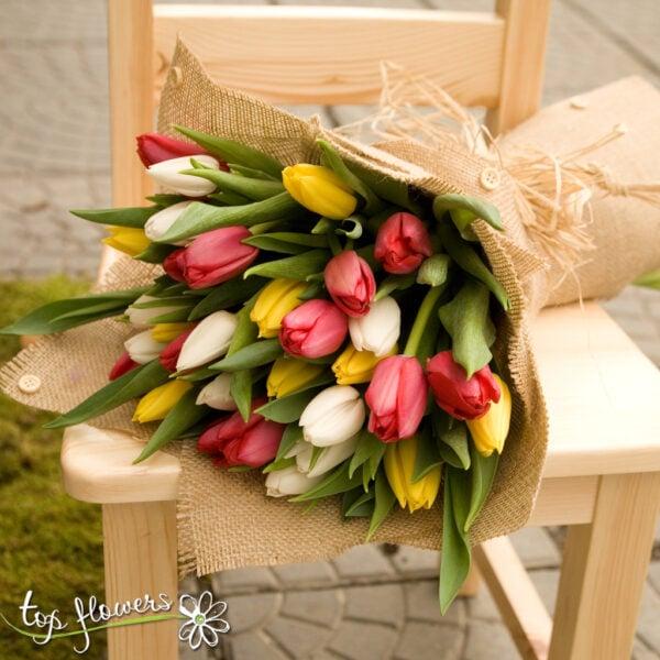 Bouquet of 31 Tulips | Multicolored