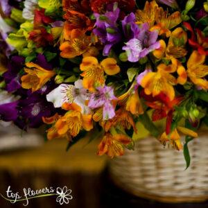 Кошница от 101 хризантеми