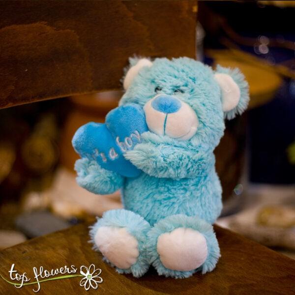 Blue Teddy bear | 21 cm. |