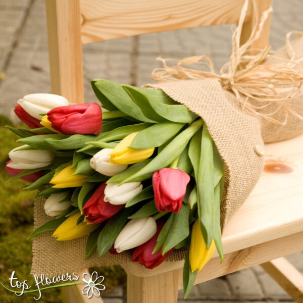 Bouquet of 21 Tulips | Multicolored