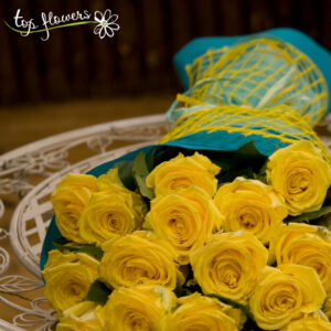 Classic bouquet of yellow roses