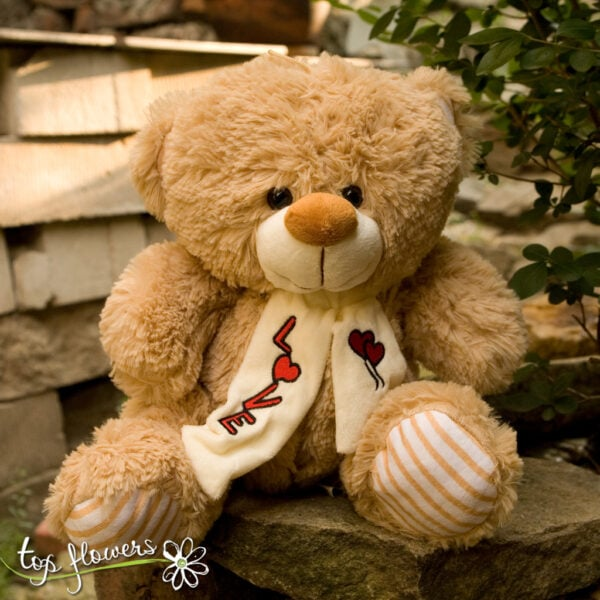 Teddy bear with a scarf| 30 cm. |