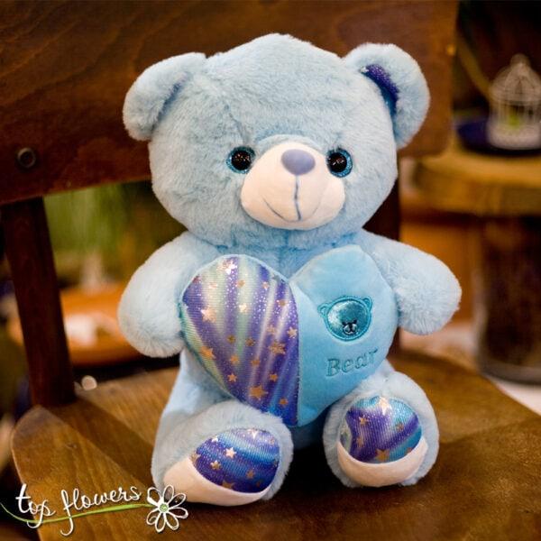 Blue Teddy bear | 30 cm. |