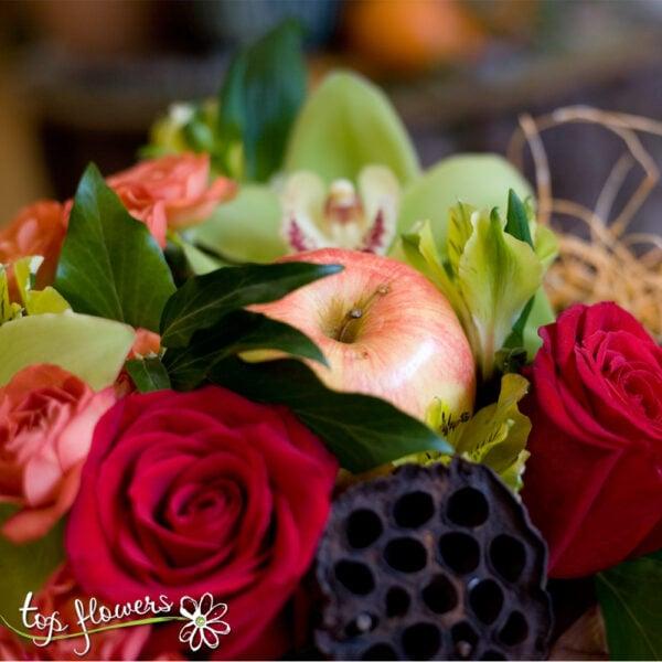 Arrangement yourself fresh flowers