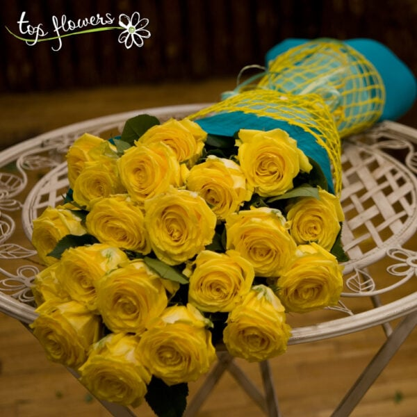 Classic bouquet of yellow roses 31