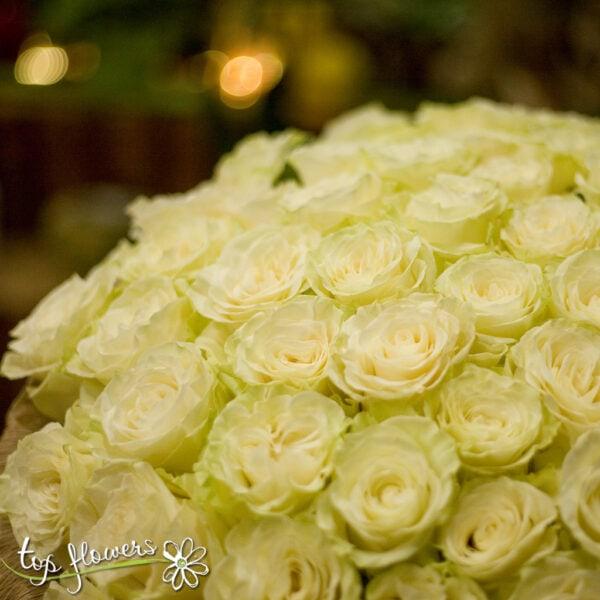 Букет 101 Бели Рози