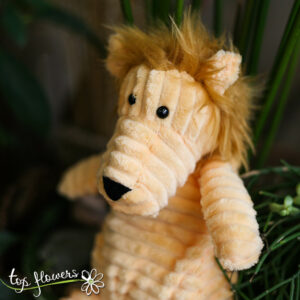 Plush lion | Hand sewn