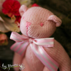 Teddy bear pink | Hand knitted