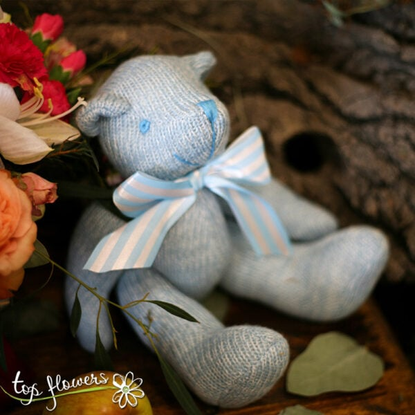 Teddy bear blue | Hand knitted