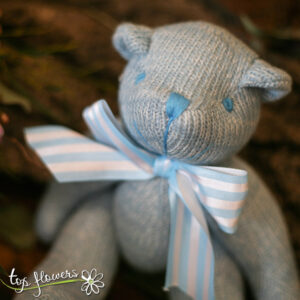Teddy bear blue | Hand knitted