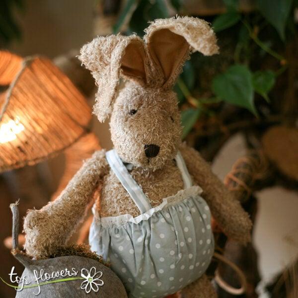 Plush blue bunny   Hand sewn