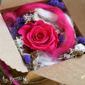 Surprise box | Dark Pink Eternal Rose